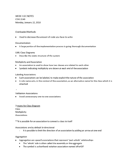 COIS 2240H Lecture Notes - Lecture 3: Init, Switch Statement