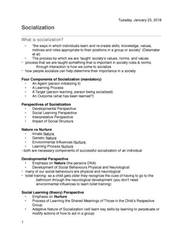socpsy-1z03-lecture-5-socialization