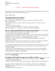 PPHS 511 Lecture Notes - Lecture 6: Health Promotion, Epigenetics, Coinfection
