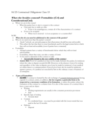 LAWG 100D1 Lecture Notes - Lecture 13: Charter Of The French Language, Quid Pro Quo, Fide