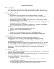 HROB 2090 Chapter Notes - Chapter 3: Dispositional Attribution, Job Performance, Absenteeism