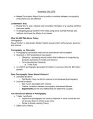 JMC 1100 Lecture Notes - Lecture 17: Heart Rate, Hookup Culture, Social Desirability Bias