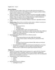 English 2033E Lecture Notes - Lecture 4: Alligator Pie