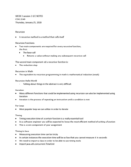 COIS 2240H Lecture Notes - Lecture 3: Mathematical Induction