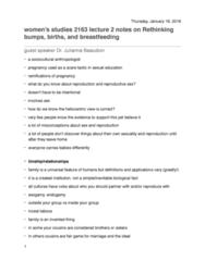 Women's Studies 2163A/B Lecture Notes - Lecture 2: Trans Man, Orgasm, Lactation