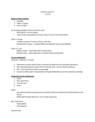 FIN 357 Lecture Notes - Lecture 2: Accounting Liquidity, Operating Cash Flow, Tax Bracket