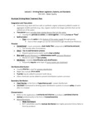 ENH 424 Lecture Notes - Lecture 2: Hepatitis A, Hepatitis E Virus, Protozoa