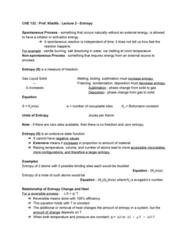 CHE 132 Lecture Notes - Lecture 2: Boltzmann Constant, Activation Energy