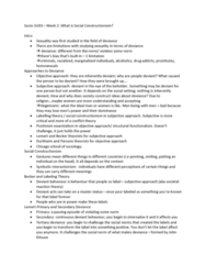 SOCIOL 3U03 Lecture Notes - Lecture 4: Social Constructionism, Symbolic Interactionism, Labeling Theory