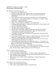 SOCIOL 3U03 Lecture Notes - Lecture 3: Pansexuality, Heteronormativity, Kinsey Scale
