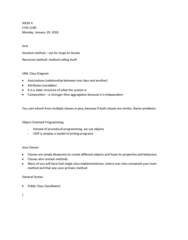 COIS 2240H Lecture Notes - Lecture 4: Sequence Diagram, Iterative Method, Procedural Programming