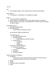 SOC 281 Lecture Notes - Lecture 4: Gender Identity, Masculinity