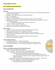 Biology 2483A Study Guide - Midterm Guide: Tunicate, Myxoma, Stellar Population