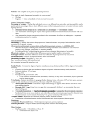 PSYC 2740 Lecture Notes - Lecture 6: Novelty Seeking, Serotonin Transporter, Dopamine Receptor D4