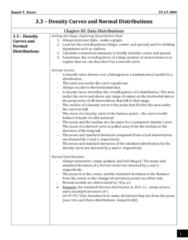 STAT 3005 Lecture Notes - Lecture 3: Quantile, Standard Deviation, Normal Distribution