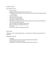 BIOL 2020 Lecture Notes - Lecture 2: Phylogenetic Tree, Ribosomal Rna, Cyanobacteria