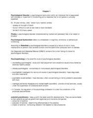 Psychology 2030A/B Lecture Notes - Lecture 1: Dsm-5, Behaviorism, Benzodiazepine