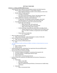 AGR 3303 Study Guide - Midterm Guide: Friedrich Miescher, Maurice Wilkins, Phosphodiester Bond
