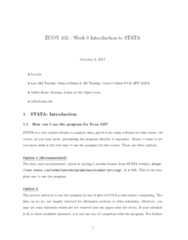 ECON 103 Study Guide - Final Guide: Stata, General Idea, Working Directory