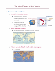 ZOL 355 Lecture Notes - Lecture 2: Ocean Current, Heat Transfer, Energy