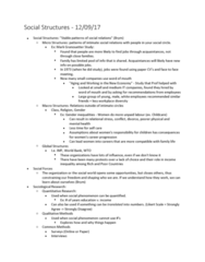 SOCIOL 1C03 Lecture Notes - Lecture 2: World Trade Organization, Social Forces, Likert Scale