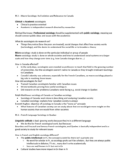 SOC100H1 Chapter Notes - Chapter 1, 6, 39: Public Sociology, Cultural Studies, Intellectual