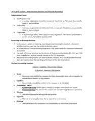 ACTG 1P91 Lecture Notes - Lecture 1: International Financial Reporting Standards, Income Statement, Net Income