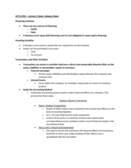 ACTG 1P91 Lecture Notes - Lecture 2: Accounting Information System, Current Liability, Accounting Equation