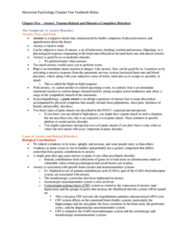 PSYC 3140 Chapter 5: Abnormal Psychology Textbook Notes Chapter 5