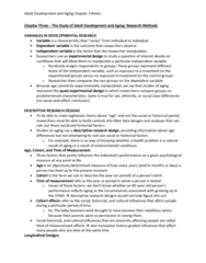 PSYC 3490 Chapter Notes - Chapter 3: Convergent Validity, Longitudinal Study, Logistic Regression