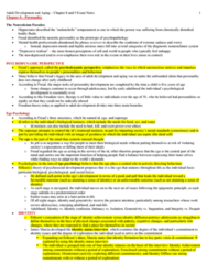 PSYC 3490 Chapter Notes - Chapter 8 & 9: Hypochondriasis, Affordable Housing, Midlife Crisis