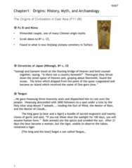 HIST 208 Lecture Notes - Lecture 1: Wu Ding, Luoyang, Sanxingdui