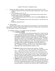 ENG 1100 Lecture Notes - Lecture 3: Verbosity, Hasty Generalization, Shoplifting
