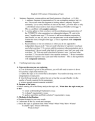 ENG 1100 Lecture Notes - Lecture 5: Semicolon, Brainstorming, Topos