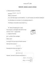 MATH 203 Lecture Notes - Lecture 1: Even And Odd Functions