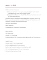 PHIL 2550 Lecture Notes - Lecture 7: Susan Fiske, Empathic Concern, Psychopathy