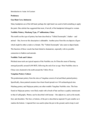 FA 34a Lecture Notes - Lecture 1: Majiayao Culture, Yangshao Culture