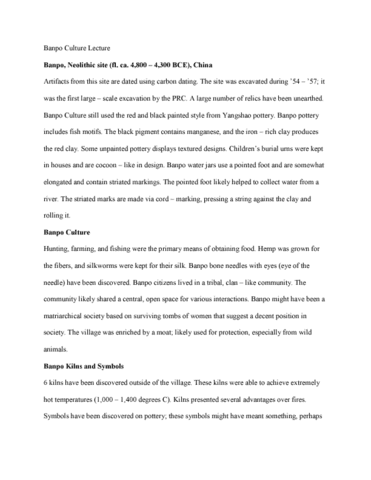 fa-34a-lecture-2-banpo-culture-lecture-notes