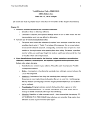 COMM 10123 Study Guide - Midterm Guide: Active Voice, Gender-Neutral Language, Jargon