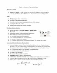 BUSI 1450U Chapter Notes - Chapter 5: Average Absolute Deviation, Standard Deviation, Unit