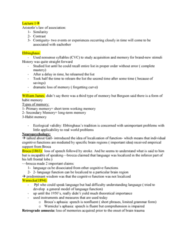 PSYC 3265 Lecture 1: Memory Lecture 1 notes--- oneclass