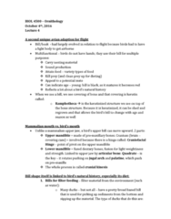 BIOL 4500 Lecture Notes - Lecture 4: Spruce Grouse, Ruffed Grouse, Cranial Kinesis