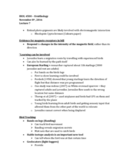 BIOL 4500 Lecture Notes - Lecture 7: Eastern Screech Owl, Pennaceous Feather, Common Starling