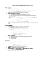 ENH 424 Lecture Notes - Lecture 5: Water Softening, Hard Water, Manganese