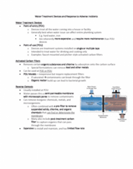 ENH 424 Lecture Notes - Lecture 6: Semipermeable Membrane, Activated Carbon, Hard Water