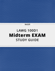 LAWG 100D1- Midterm Exam Guide - Comprehensive Notes for the exam ( 72 pages long!)