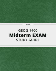GEOG 1400- Midterm Exam Guide - Comprehensive Notes for the exam ( 79 pages long!)