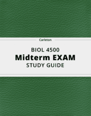BIOL 4500- Midterm Exam Guide - Comprehensive Notes for the exam ( 70 pages long!)