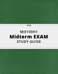 MIE100H1- Midterm Exam Guide - Comprehensive Notes for the exam ( 77 pages long!)