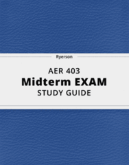 AER 403- Midterm Exam Guide - Comprehensive Notes for the exam ( 118 pages long!)